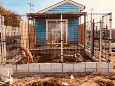 フェンス設置完了